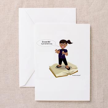 excuse_me_let_me_speak_greeting_cards_pk_of_10