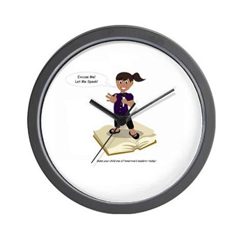 excuse_me_let_me_speak_signiture_wall_clock